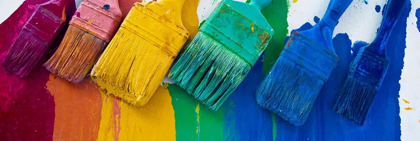 Farben, Wandfarben. Fassadenfarben, Lacke